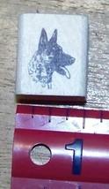 German Shepard dog head Rubber Stamp made in America - $13.63