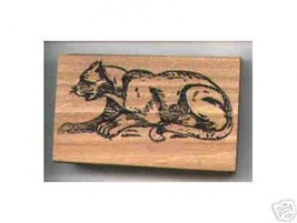 PUMA cat Rubber stamp Cougar Mountain Lion Panther - $13.64