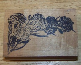 Carnation FlOwer Flowers  Rubber Stamp large - $16.22