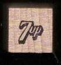 7 Up vintage logo rubber stamp soda made in USA - $16.22