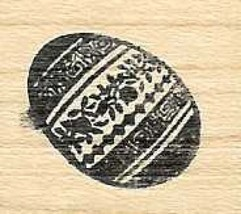 EAster Egg #1 Rubber Stamp made in america free shipping - $13.63