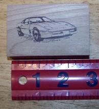 Chevrolet Chevy Corvette Vette Car Coupe  Rubber Stamp - $13.63