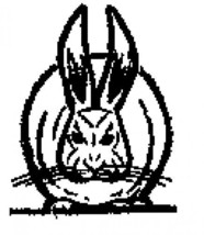 Rabbit front view Rubber Stamp made in america free shipping - $13.63
