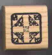 Quilt block Rubber Stamp made in america free shipping  ab - $13.63