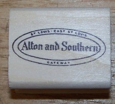Alton and Southern St Louis East St LouIs Gateway Rubber Stamp - $13.85