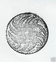 Round woven button design  Rubber Stamp - $13.63