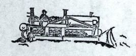 Cat Dozer #2  Rubber Stamp made in america free shipping catapillar bulldozer ab - $16.22