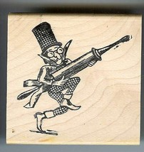 Clown holding huge hypo needle Rubber Stamp made in america free shipping  ab - $13.63