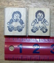 Set of 2 stamps Rag Dolls Raggedy Ann Andy Rubber Stamp - $13.64