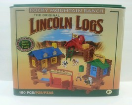 Lincoln Logs Rocky Mountain Ranch 143 of 150 PIECES Near Complete Hasbro - $51.06