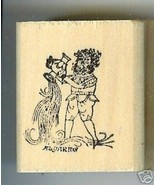 Aquarius Zodiac Sign Rubber Stamp 1960's Jan20-Feb18 - $13.64