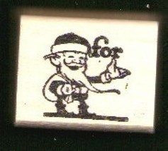 Santa FOR Rubber Stamp made in america free shipping - $13.63