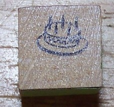 Birthday Cake tiNY mini Rubber Stamp - $9.46