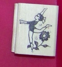 Oriental Asian Gril Dancing w flower #2 Rubber Stamp made in america free ship - $13.85