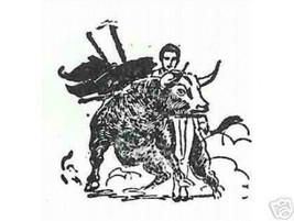 Bullfighter Bull Bullfighting  Rubber stamp cape ab - $13.63