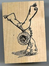 Clown doing Hand Stand Rubber Stamp made in america free shipping - $13.64
