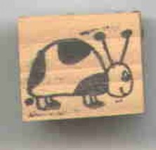 Lady Bug small original design Rubber Stamp  made in america free shipping  ab - $13.63
