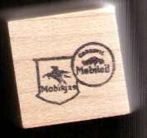 Mobil gas #2  logo Rubber Stamp made in america free shipping - $12.86