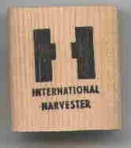 International harvester logo  rubber stamp ab - $13.63