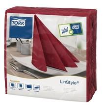 500X Tork Linstyle Dinner Napkin Burgundy 400mm / Commercial Restaurant ... - $135.78
