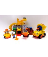 Fisher Price Little People Construction Lot Bolder Worksite Dump Truck Sounds
