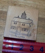 Yaquina Bay LightHouse Newport Oregon original signed by artist rubber stamp - $16.22