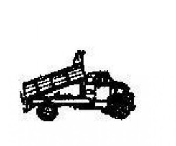 Tiny Dump Truck Side view Rubber Stamp made in america free shipping - $9.46