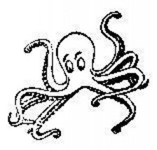 Octopus sea life aquatic Rubber Stamp made in america free shipping - $13.85