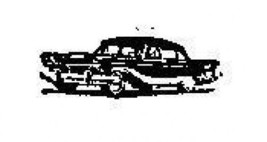 Tiny 1950's Car Rubber Stamp made in america free shipping - $9.46