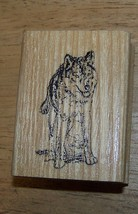 Wolf front view  wild  animal Rubber Stamp made in USA - $13.85
