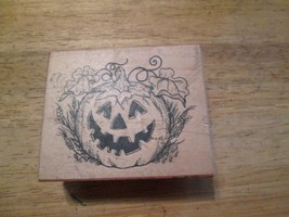 Giant Jack-O-Lantern Rubber Stamp   2 3/4 x 2 1/4  inches PSK 1991 - $16.22