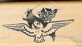 Dove with  Olive Branch rubber stamp Peace ab - $13.85