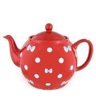Disney Parks Minnie Bows and Dots Teapot New - $56.39