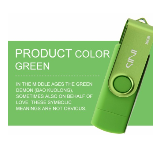 Dual USB Flash Drive Disk USB 2.0 OTG 8/16/32/64GB Phone Memory Stick Pen Drive
