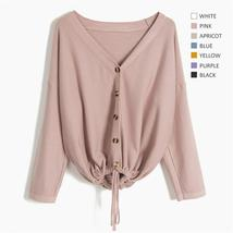 Women Solid Color Female Outerwear autumn Oversized Sweaters Lady Casual... - $44.97