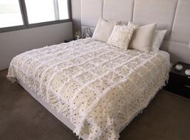 Beautiful Moroccan Wedding Blanket, (Handira)  Blanket, unique gift, give a magi - $179.00