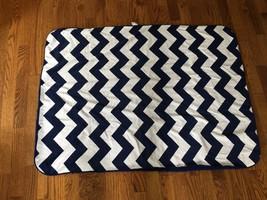 Circo Target Chevron Zigzag Blue White Sherpa Baby Blanket Security Love... - $538,86 MXN