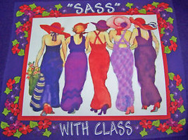 "Long Sleeve Purple T-SHIRT 2X ""Sass W/ Class For Red Hat Ladies Of The Society - $17.81"