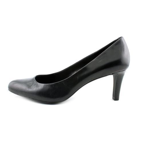 New Women's Ralph Lauren Harper High Heels Shoes Pumps Black Leather 6 B M
