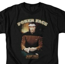 Star Trek The Next Generation Data Poker Face Sci-Fi graphic t-shirt CBS517 image 2