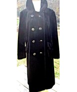 Exquisite Vintage Dark Black Faux Fur Betty Rose Winter Coat 42 chest 42... - $78.38