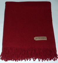 Sferra Vimmo Merino Wool Fringed Throw Blanket in Merlot New - $148.90