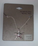 "Starfish Necklace New 18"" Length Silver Plated ... - $7.50"