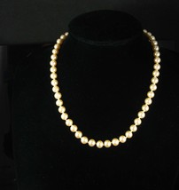 "Vintage pearl choker antique wedding necklace 17"" pearl necklace Anniver... - $95.00"