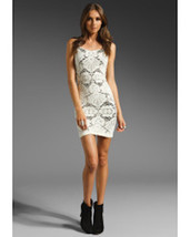 Free People IntimatelyDress Medallion Bodycon Lace White Festival Dress... - $30.60