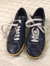 vintage sneakers KEDS korea size retro shoes flats rubber blue Navy tag ... - $42.08