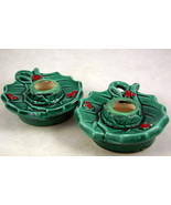 Vintage Commodore Japan ceramic green holly ber... - $18.00