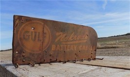 14 x 6 Gulf Nokrode Battery Cables Vintage Advertising Sign Store Displa... - $99.00