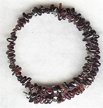 Garnet Gemstone Chip Bracelet - $7.92