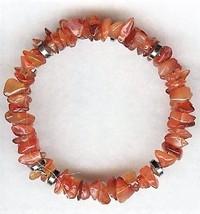 Carnelian Gemstone Chip Bracelet - $6.56